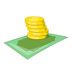 Coins icon isometric style vector image