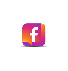 Colorful letter f icon logo vector