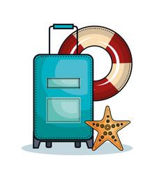 Colorful suitcase design vector