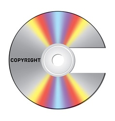 Copyright CD vector image