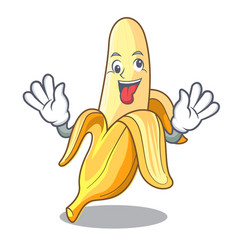 crazy tasty fresh banana mascot cartoon style vector image