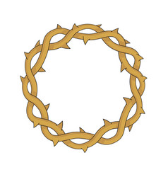crown thorns easter religious symbol vector image