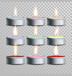 decorative aromatic tealight candles set vector image
