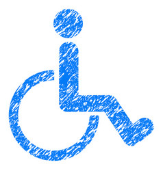 disabled person grunge icon vector image