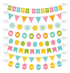 Easter banners set vector image