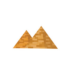 egyptian pyramids icon historical and tourist vector image