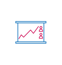 elections line chart outline colored icon can be vector image