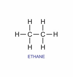 ethane structural formula vector image