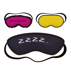 eye mask sleeping night accessory relax vector image