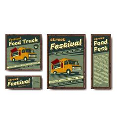 Fast food retro poster vector