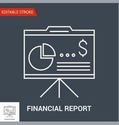 financial report icon line vector image