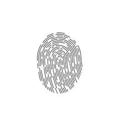 fingerprint logo fingerprint icon identification vector image