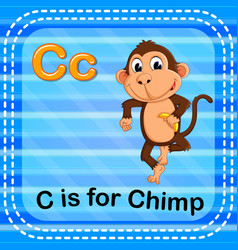 flashcard letter c is for chimp vector image