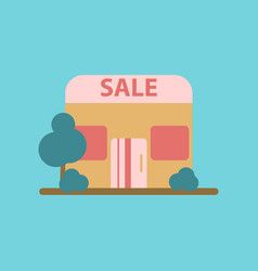 flat icon of shop sale vector image