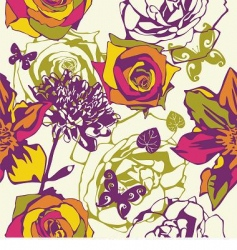 floral vector texture vector image