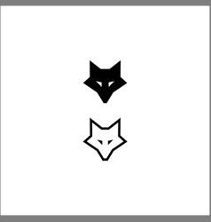 fox head icon logo template vector image