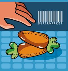 fresh carrots super market products vector image