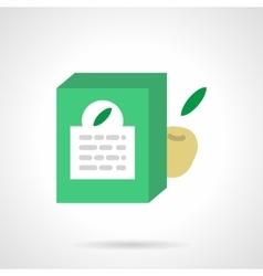 Fruit milk formula flat color design icon vector image