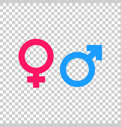 gender sign icon men and women concept icon vector image