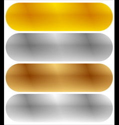 Gold silver bronze and platinum banners with vector