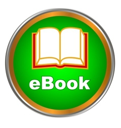 Green ebook icon vector