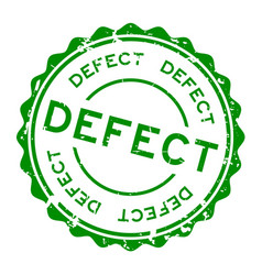 Grunge green defect word round rubber seal stamp vector
