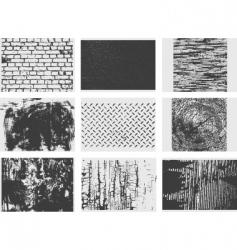 Grunge texture set vector