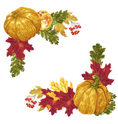 harvest season and thanksgiving square frame vector image