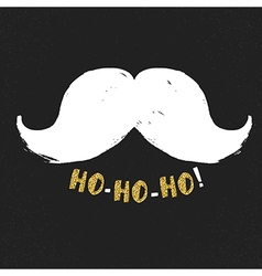 Ho-Ho-Ho Gold letters on black textured background vector image