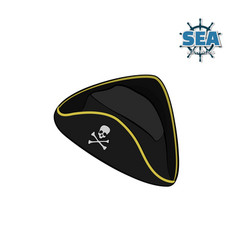 icon of pirate hat in isometric style vector image