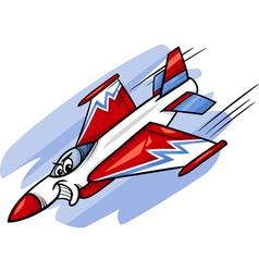 jet fighter plane cartoon vector image