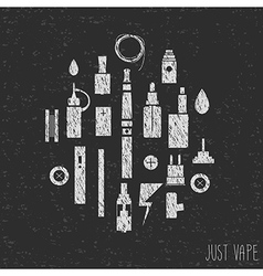 Just vape Icons vape Hand graphics Silhouette vector