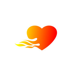 love fire logo vector image