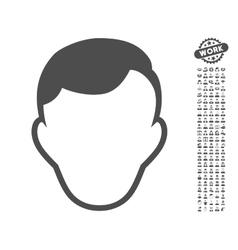 Man Face Template Icon With Bonus vector