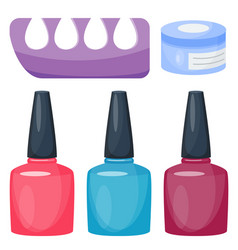 Manicure foot and hand care fingers instruments vector