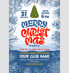 Merry christmas party poster background vector