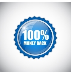 Money Back Blue Label vector