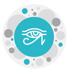 Of dyne symbol on horus eye vector