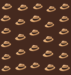 Panama hat background vector