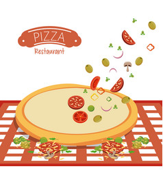 Pizza restaurant fast food vector