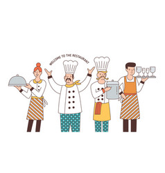 Restaurant team good service vector
