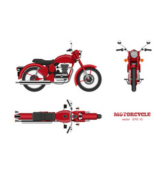 retro classic motorcycle in realistic style vector image