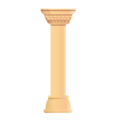 roman pillar icon cartoon style vector image