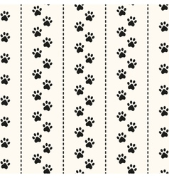 Seamless animal pattern paw footprint vector