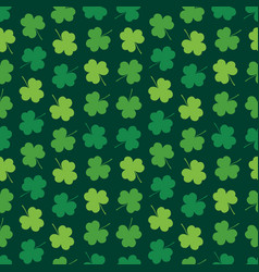 seamless pattern background with clover shamrock vector image