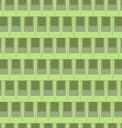 Seamless rectangular tile pattern-green vector image