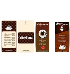 set of menu templates for cafe vector image