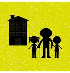 silhouette family design vector image