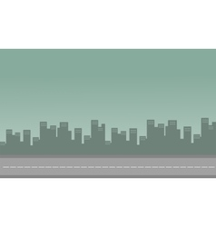 Silhouette of congested city with building vector