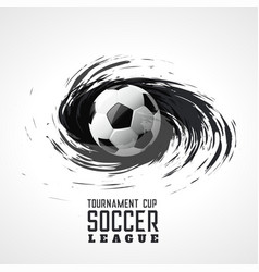 Soccer tournament abstract swirl grunge background vector